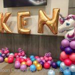 unicorn balloon column