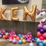 Unicorn Birthday Balloon Design