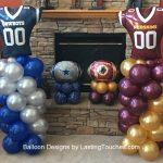 Cowboys-Redskins ballon designs