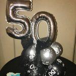 50th celebration balloon centerpiece