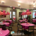 bridal shower table balloons