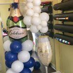 Champagne balloon overflow