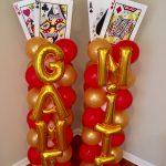 Game Night Balloon Columns