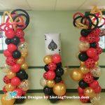 3 organic balloon columnss