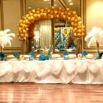 Head Table with Arch Balloons