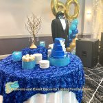 Dessert Table with Tux and Balloons