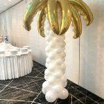 White Balloon Column with Topper