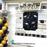2020 Grad Column w/star balloons