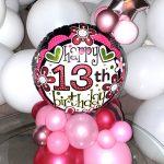 13th-birthday-tabletop-balloon-design