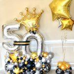 50th birthday balloon marquee