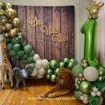 Organic Garland Balloons with Animals