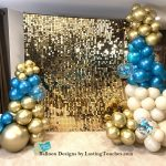Shimmer Wall Backdrop with Balloons